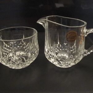 Cristal D'Arques lead crystal creamer and sugar